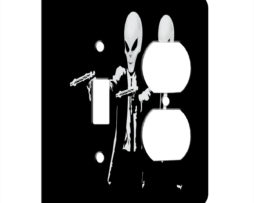 Alien Pulp Fiction Retro - AC Outlet Combo Switch Plate 2 Gang Cover