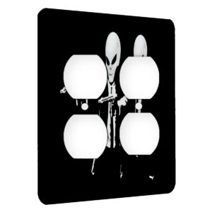 Alien Pulp Fiction Retro - AC Outlet 2 Gang Wall Plate Cover