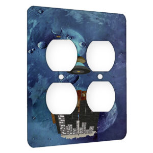 Aliens Beam Me To Mars - AC Outlet 2 Gang Wall Plate Cover
