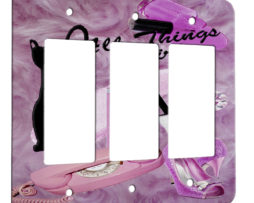All Things Girly - 3 Gang Decora Rocker Wall Plate Cover