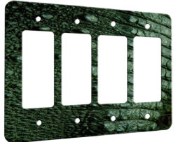 Alligator Tail  - 4 Gang Decora Rocker Wall Plate Cover