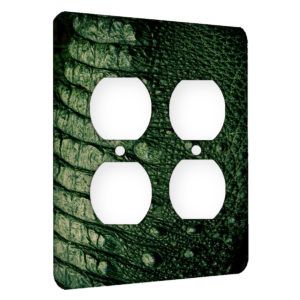 Alligator Texture - AC Outlet 2 Gang Wall Plate Cover