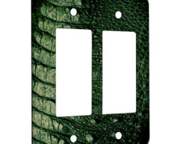 Alligator Texture - 2 Gang Decora Rocker Wall Plate Cover