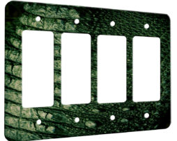 Alligator Texture - 4 Gang Decora Rocker Wall Plate Cover