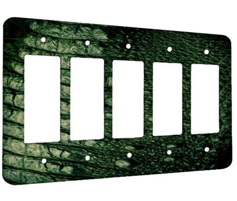 Alligator Texture - 5 Gang Decora Rocker Wall Plate Cover