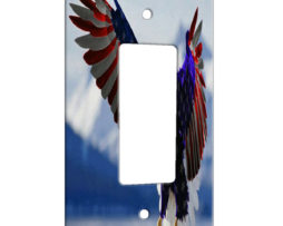 American Eagle Flag - 1 Gang Decora Rocker Wall Plate Cover