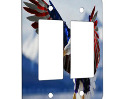 American Eagle Flag - 2 Gang Decora Rocker Wall Plate Cover