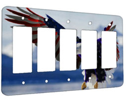 American Eagle Flag - 5 Gang Decora Rocker Wall Plate Cover