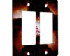American Flag Baseball - 2 Gang Decora Rocker Wall Plate Cover