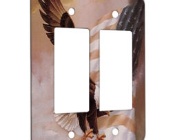 American Flag Eagle - 2 Gang Decora Rocker Wall Plate Cover