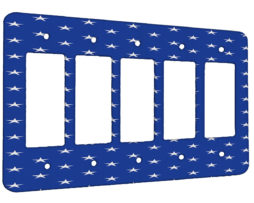 American Flag Stars - 5 Gang Decora Rocker Wall Plate Cover