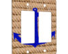 Anchored - 2 Gang Decora Rocker Wall Plate Cover