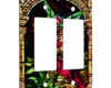 Angels Offering Stain Glass - 2 Gang Decora Rocker Wall Plate Cover