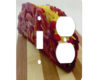Bacon Taco - AC Outlet Combo Switch Plate 2 Gang Cover