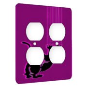 Cat Scratch Pink - AC Outlet 2 Gang Wall Plate Cover