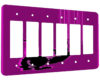 Cat Scratch Pink - 6 Gang Decora Rocker Wall Plate Cover