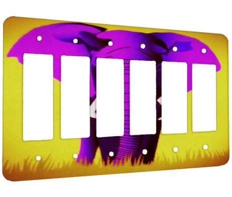 Elephant Pink - 6 Gang Decora Rocker Wall Plate Cover