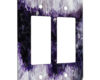 Geode Amethyst Crystal - 2 Gang Decora Rocker Wall Plate Cover
