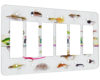 Gone Fishin Flies - 6 Gang Decora Rocker Wall Plate Cover