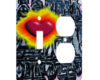 Graffiti Cyber Love - AC Outlet Combo Switch Plate 2 Gang Cover