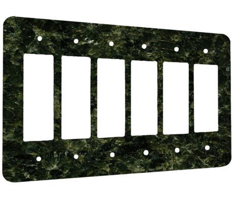 Granite Uba Tuba - 6 Gang Decora Rocker Wall Plate Cover