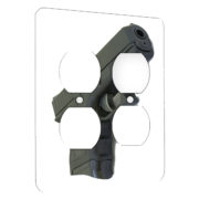 Gun - AC Outlet 2 Gang Wall Plate Cover