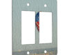 Hot Air Balloon American Flag Design - 2 Gang Decora Rocker Wall Plate Cover