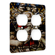 Jesus Christ Shephard - AC Outlet 2 Gang Wall Plate Cover