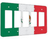 Mexico Flag - 5 Gang Decora Rocker Wall Plate Cover
