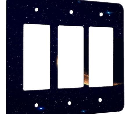 Moon Night Stars - 3 Gang Decora Rocker Wall Plate Cover