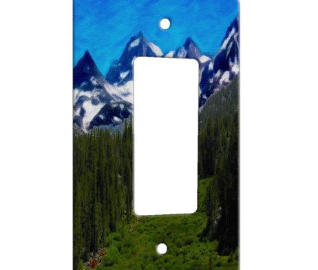 Mountains and Hillside - 1 Gang Decora Rocker Wall Plate Cover