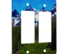 Mountains and Hillside - 2 Gang Decora Rocker Wall Plate Cover