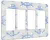 Nautical Pattern - 4 Gang Decora Rocker Wall Plate Cover