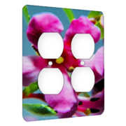 Orchid Pink - AC Outlet 2 Gang Wall Plate Cover