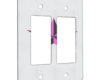 Pink Star - 2 Gang Decora Rocker Wall Plate Cover