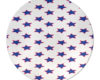 Red White Blue Stars - Round Glass Cutting Board