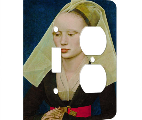 Rogier Van Der Weyden Portrait Of A Lady - AC Outlet Combo Switch Plate 2 Gang Cover