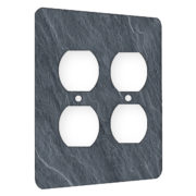 Slate Grey - AC Outlet 2 Gang Wall Plate Cover