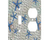 Starfish Nautical Net - AC Outlet Combo Switch Plate 2 Gang Cover