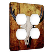 Steer Skull - AC Outlet 2 Gang Wall Plate Cover