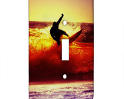 Surfing at Sunset - Single Gang Switch Plate