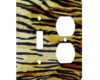 Tiger Print Abstract - AC Outlet Combo Switch Plate 2 Gang Cover