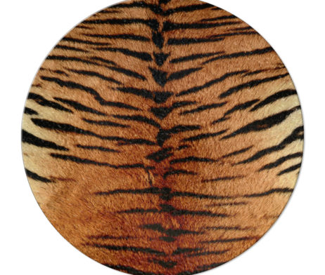 Tiger Stripe - Round Glass Cutting Board