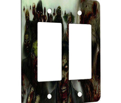 Zombies - 2 Gang Decora Rocker Wall Plate Cover