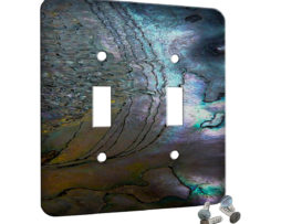 Abalone Metallic Shell - 2 Gang Switch Plate