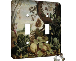 Abraham Bloemaert Garden Painting - 2 Gang Switch Plate