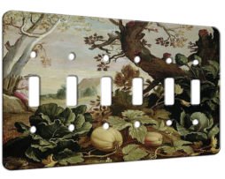 Abraham Bloemaert Garden Painting - 6 Gang Switch Plate