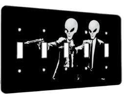 Alien Pulp Fiction Retro - 5 Gang Switch Plate