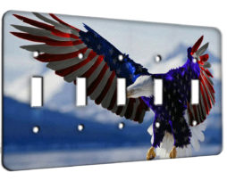 American Eagle Flag - 5 Gang Switch Plate