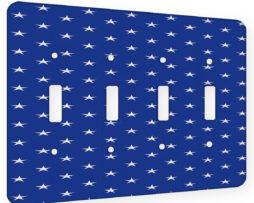 American Flag Stars - 4 Gang Switch Plate